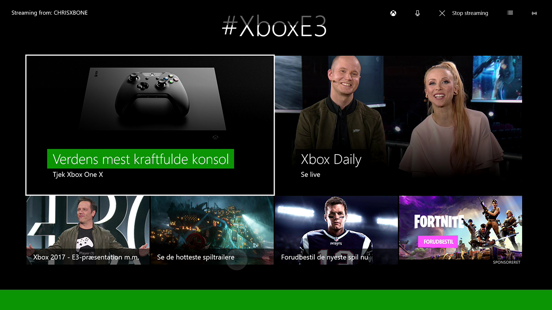 Microsoft Xbox Dashboard (German)